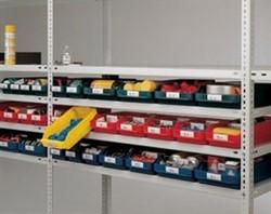 Verdeelplaat transparant 118x95mm t.b.v. blauwe magazijnbakjes.