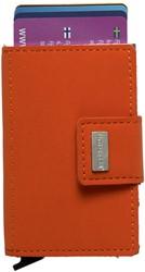 Pasjeshouder Figuretta kunstlederen omslag in de kleur oranje cap. 6 kaarten.