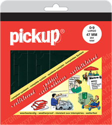 Pickup map cijfers 47mm zwart.