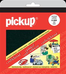 Pickup map letters + cijfers 8mm zwart .