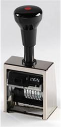 Numeroteur Reiner B6 met 6 raderen en afdrukhoogte 5.5mm.