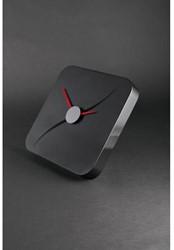 Wandklok Sigel Kada 35x35cm zwart kunststof 3D front (WU131).