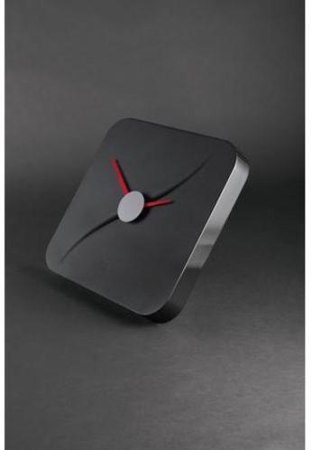 Wandklok Sigel Kada 35x35cm zwart kunststof 3D front (WU131). OP=OP