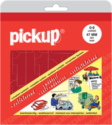 Pickup map cijfers 47mm rood.