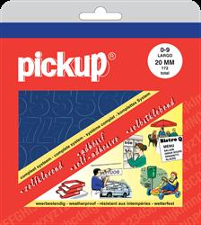 Pickup map cijfers 20mm blauw.