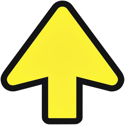 Vloersticker OPUS 2 pijl geel/zwart.
