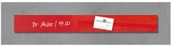 Glas-Magneetbord Sigel GL139 rood 65x550x15mm, incl. 1 magneet en bevestigingsmateriaal.