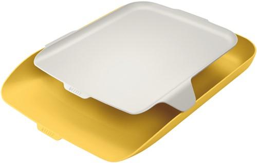 Brievenbak Leitz Cosy met desk organiser A4 geel (52590019).
