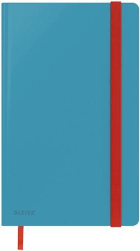 Notitieboek Leitz Cosy A5 harde kaft blauw - 80 vel 100 grams gelijnd wit papier (44810061).