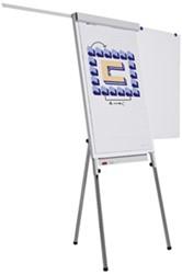 Flipover Smit Visual Standaard Plus 65x100  voorzien van magneethoudend achterpaneel en 2 zij-armen.