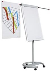 Flipover Smit-Visual 65x100 verrijdbaar vario voorzien van snelklem.