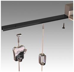 Plafondrail Smit Visual t.b.v. systeemplafond zwart set van 2 stuks.