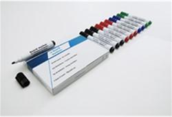Whiteboard / flipover marker Smit-Visual rond zwart 5mm.