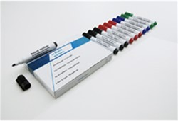 Whiteboard / flipover marker Smit-Visual rond rood 5mm.