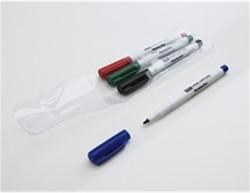 Whiteboard / flipover marker Smit-Visual smal assorti kleuren 4 stuks.
