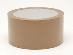 Verpakkingstape hoogwaardig PP Low Noise 50mm x 66m bruin.