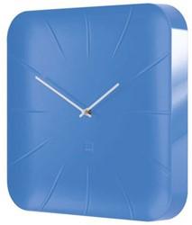 Wandklok Sigel Inu 35x35cm lichtblauw kunststof 3D front (WU141). OP=OP