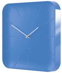 Wandklok Sigel Inu 35x35cm lichtblauw kunststof 3D front (WU141).
