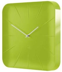 Wandklok Sigel Inu 35x35cm lemon groen kunststof 3D front. OP=OP