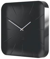Wandklok Sigel Inu 35x35cm zwart kunststof 3D front (WU144).