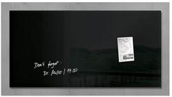 Glas-Magneetbord Sigel GL145  zwart 910x460x15mm incl. 2 magneten en bevestigingsmateriaal.