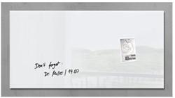 Glas-Magneetbord Sigel GL146 wit 910x460x15mm, incl. 2 magneten en bevestigingsmateriaal.