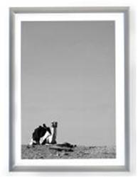 Fotolijst Dufco aluminium smalle rand 30x40cm kleur zilver.