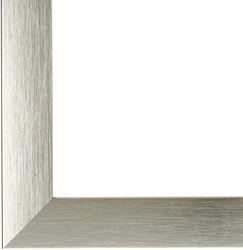 Fotolijst Dufco 40x50cm geborsteld aluminium brede rand kleur zilver.
