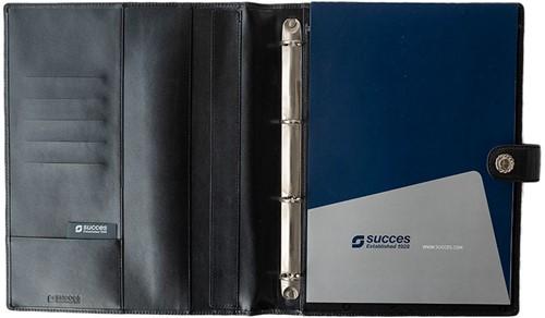 Schrijfmap Succes A4 Luxe Prestige - omslag leder zwart PB148ES02.-2