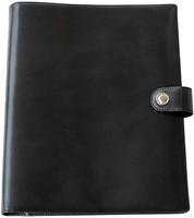 Schrijfmap Succes A4 Luxe Prestige - omslag leder zwart PB148ES02.