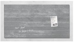 Glas-Magneetbord Sigel GL148 beton 910x460x15mm, incl. 2 magneten en bevestigingsmateriaal.