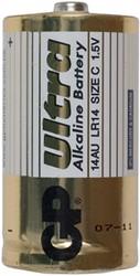 Batterij GP-14AU C alkaline 1.5 volt 2 stuks.