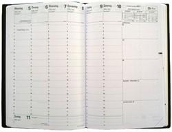 Agenda-inhoud 2019 Quo Vadis Minister 7 dagen per 2 pagina's 16x24cm wit papier.