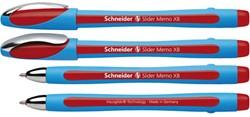 Balpen Schneider Memo XB 1.4mm rood losse dop + clip.
