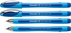 Balpen Schneider Memo XB 1.4mm blauw losse dop + clip.