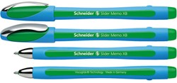 Balpen Schneider Memo XB 1.4mm groen losse dop + clip.