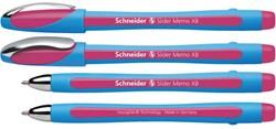 Balpen Schneider Memo XB 1.4mm roze losse dop + clip.