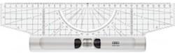 Rolliniaal M+R Plexi-Glas inclusief driehoek en loep.