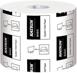 Toiletpapier Katrin Basic 115M naturel115mtr. 10,0x12,5 1-laags 918 vel 36 rollen.
