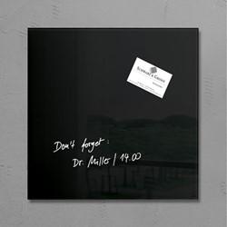 Glas-Magneetbord Sigel GL157 zwart300x300x15mm, incl. 1 magneet en bevestigingsmateriaal.