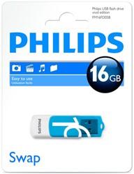 USB Stick Philips 16GB 2.0 'Vivid' met draaibaar beschermkapje.