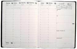 Agenda-inhoud 2019 Quo Vadis President 7 dagen per 2 pagina's 21x27cm wit papier.