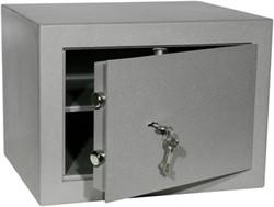 Privékluis model PT-1 afmeting buitenmaten (hxbxd) 330x450x380mm.kleur:grijs RAL 7035.