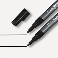 Krijtmarker Sigel 1-2mm afwasbaar zwart 2 stuks.