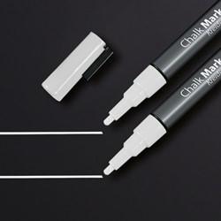 Krijtmarker Sigel 1-2mm afwasbaar wit 2 stuks.