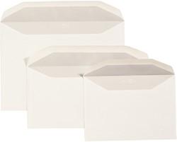 Bank envelop C6 114x162mm wit 500 stuks.