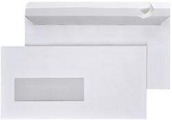 Venster envelop EA5/6 110x220mm 80 grams wit met venster links 30x100mm 500 stuks.