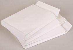Akte envelop met zijvouw EB4 262x371x38mm 150 grams wit 125 stuks.