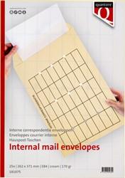 Circulatie envelop EB4 262x371mm 170 grams creme 25 stuks.