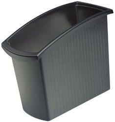 Papierbak HAN Mondo kunststof rechthoekig 18 liter zwart 450x194x345mm.